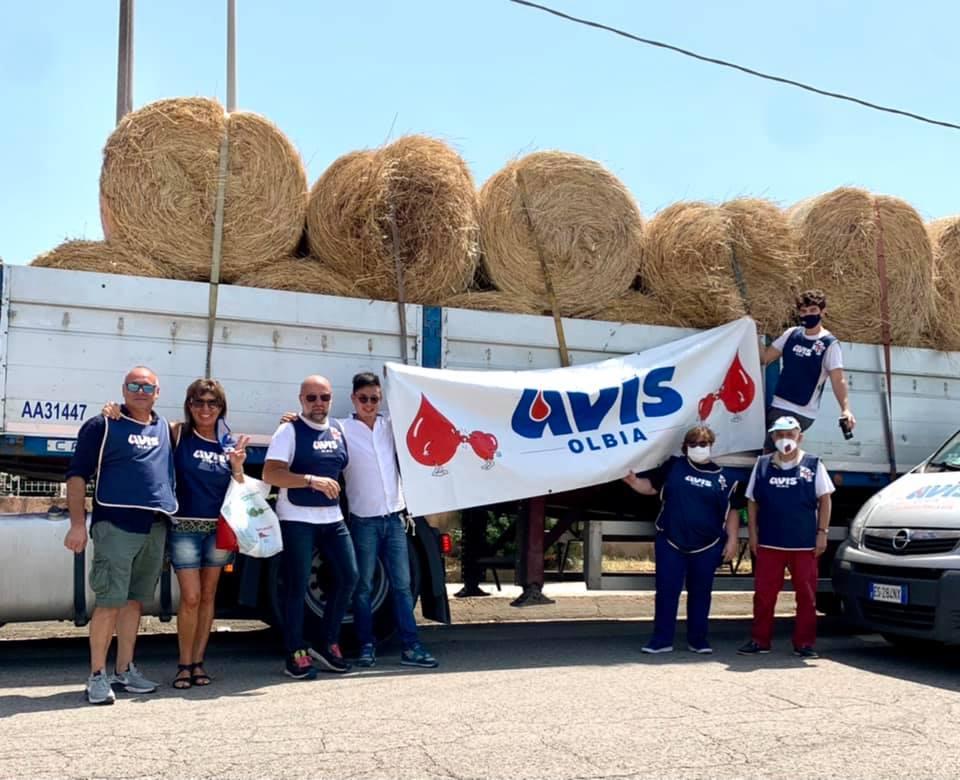 I volontari dell'Avis Comunale di Olbia