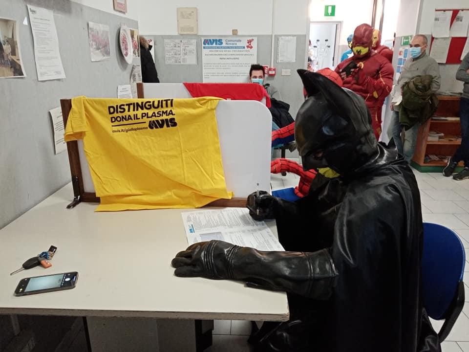 La giornata di donazione organizzata a Novara dall'Avis Comunale e da Heroes for virus