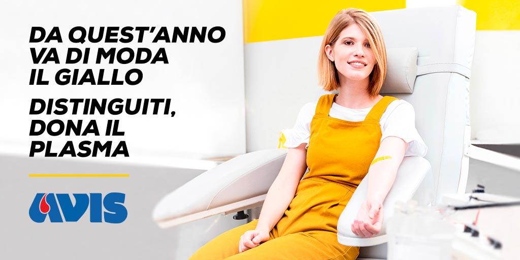 #GialloPlasma: campagna per chi pensa di donare il sangue